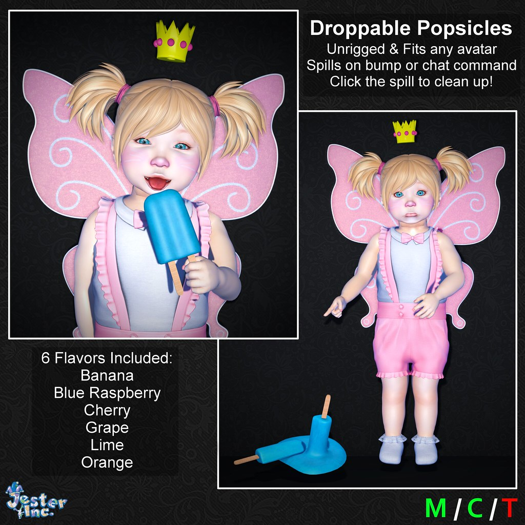 Presenting the new Droppable Popsicles from Jester Inc.