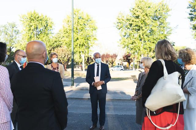 Visite du recteur dans le Tarn, 8 sept. 2020