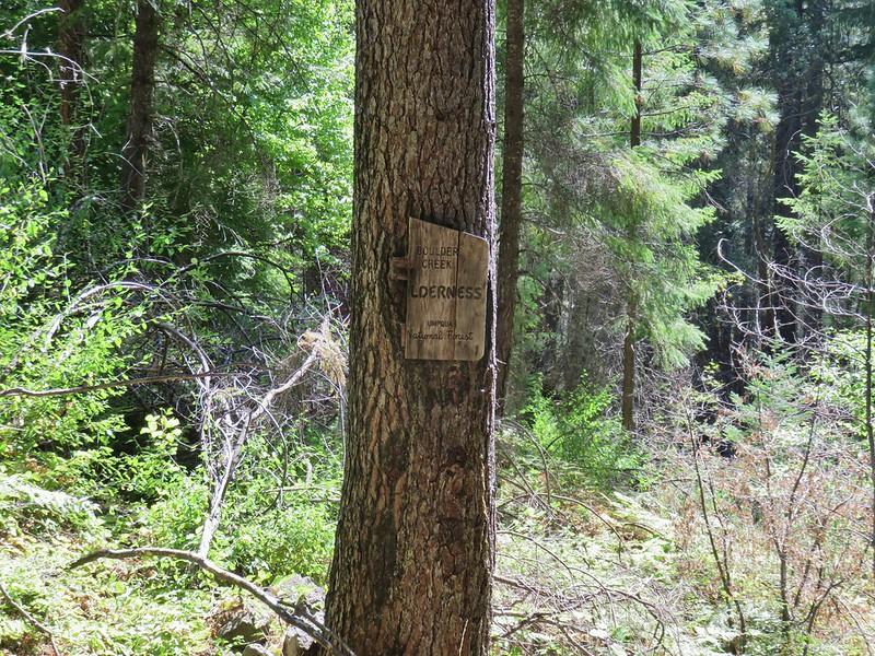 Boulder Creek Wilderness sign