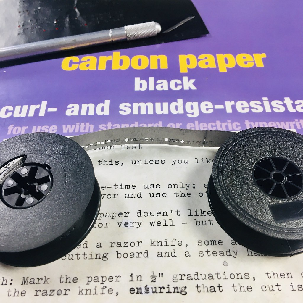 Used Carbon Paper Ribbon
