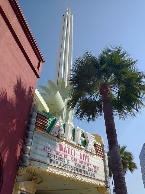 Normal View of Alex Theater Marquee