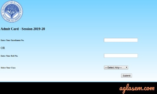 Allahabad University Admit Card 2020