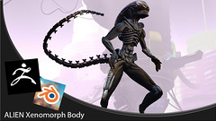 Alien body mesh zbrush for second life