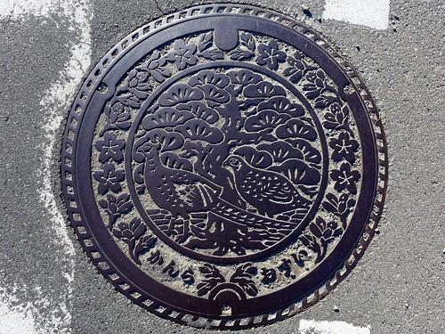 Kanra Gunma, manhole cover 2 (群馬県甘楽町のマンホール2)