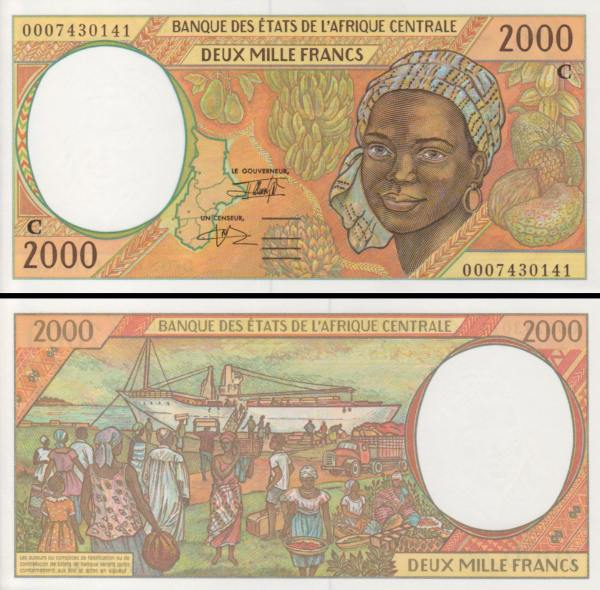 2000 Frankov Kongo (Central African States) 1993-99