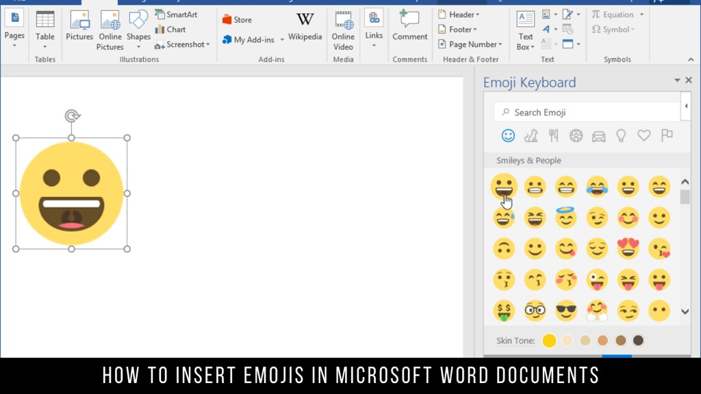 How to Insert Emojis in Microsoft Word Documents