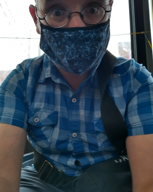 Morning commute in blue #toronto #me #selfie #26dupont #instagay