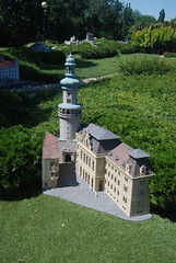 Magna Hungaria in the Mini Hungary at Szarvas Nr6: Fire Tower and Town Hall, Sopron