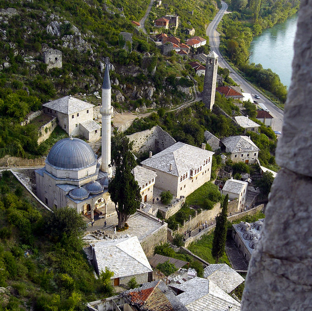 Above old Ottoman City Pocitelj