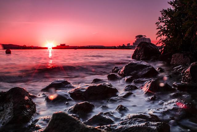 Pink Cardiff Bay
