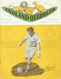 Queensland v England 4th July 1951