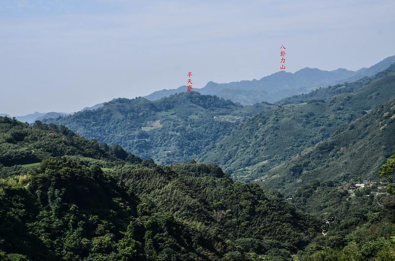 大坪產道觀景台北望群山 (2)