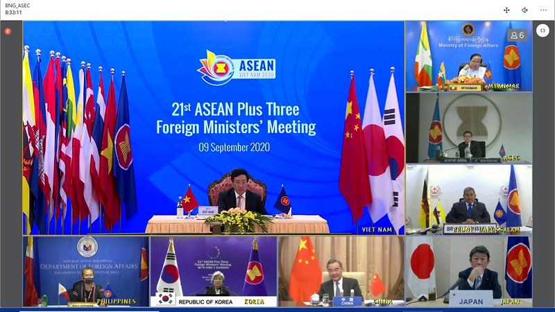 (SEPTEMBER 2020)53rdAMM_21st ASEAN Plus Three Foreign Ministers' Meeting