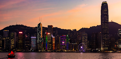 hongkong asia sunset