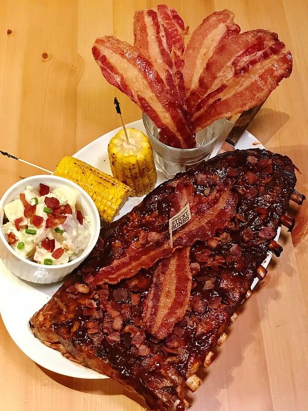 Bourbon Bacon Sticky Bones