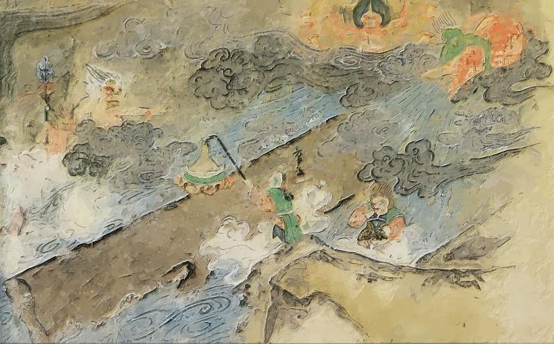 『長谷寺縁起絵巻』第10段(出光美術館の模写)★