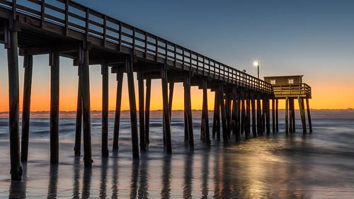 avalonnj newjersey jerseyshore longexposure fishingpier sunrise beach