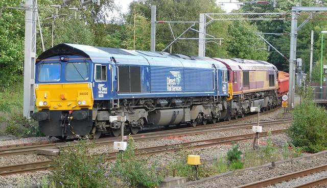 66430 + 66031 - Lichfield Trent Valley, Staffordshire