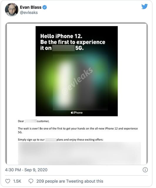 Templat Pemasaran iPhone 12 5G Bocor
