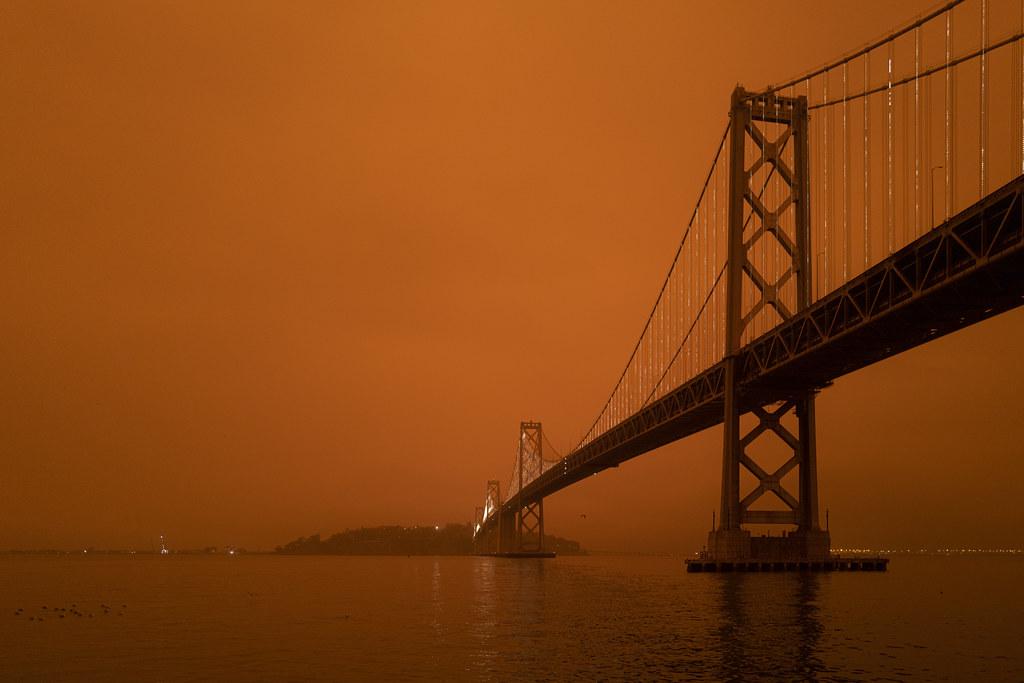 photo wildfire smoke San Francisco Bay Area