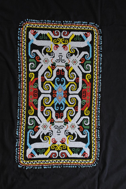 Kenyah Dayak Beadwork Mat Borneo