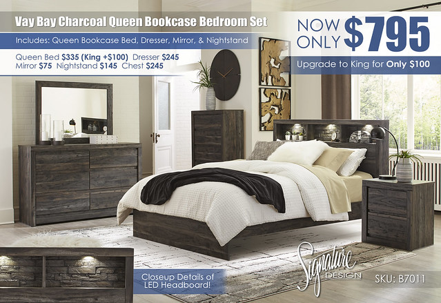 Vay Bay Charcoal Queen Bedroom Set_B7011-31-36-46-65-54-96-92