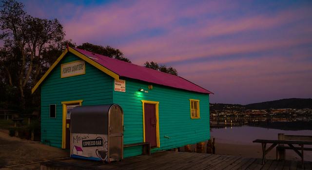 sunrise over the Boatshed