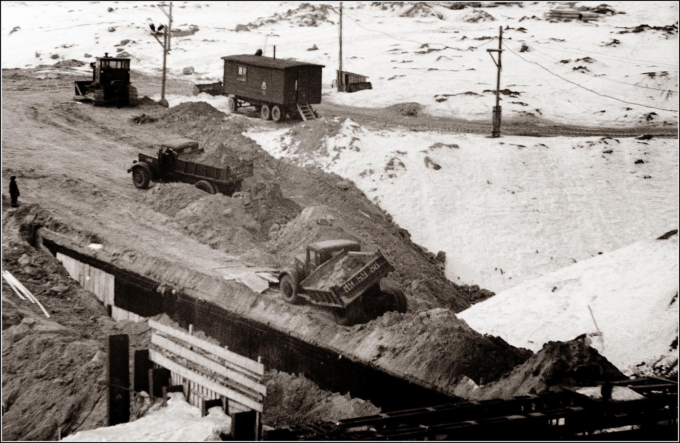 138. 1963. Измайлово, засыпка туннелей на подходе к станции Щелковская.