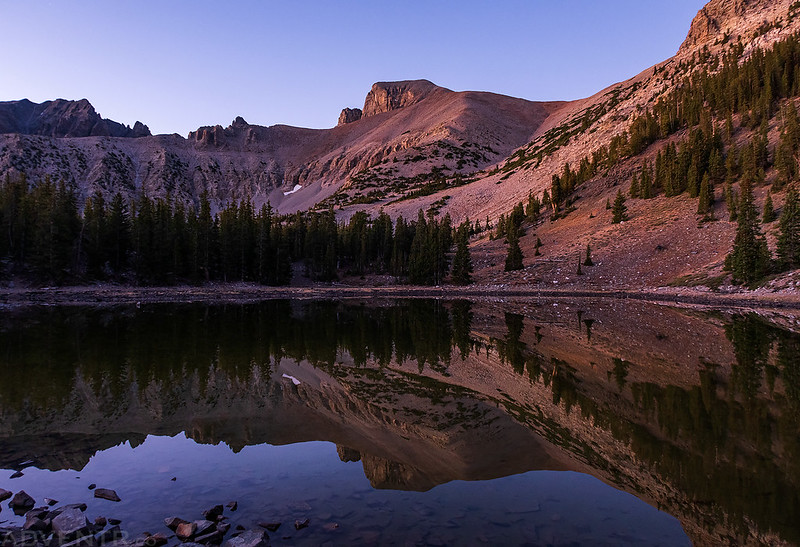 Wheeler Peak Reflection at Dawn