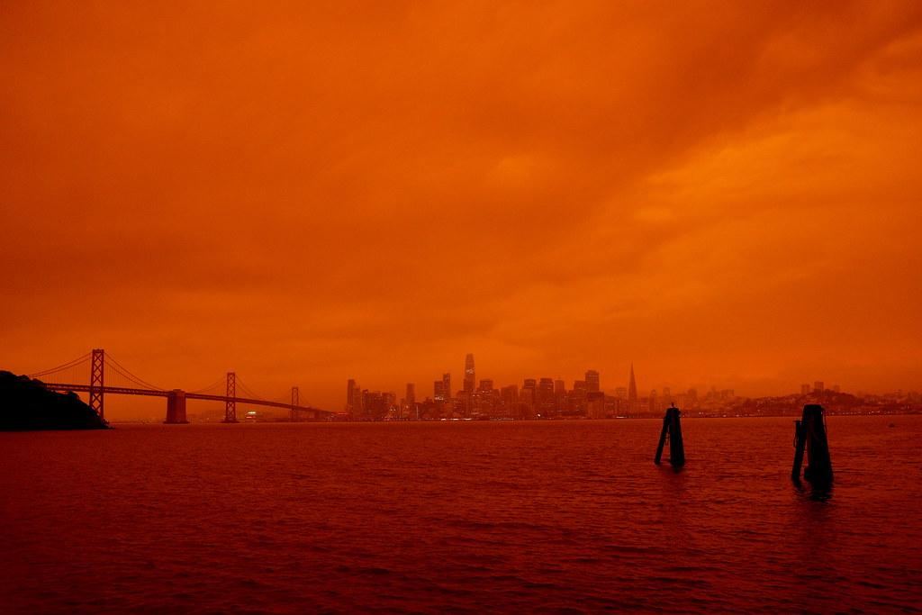 San Francisco Bay at noon on 9/9