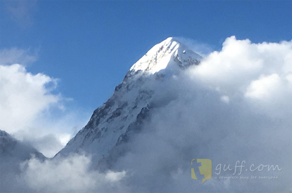 Everest Peak Blue Sky with Cloud