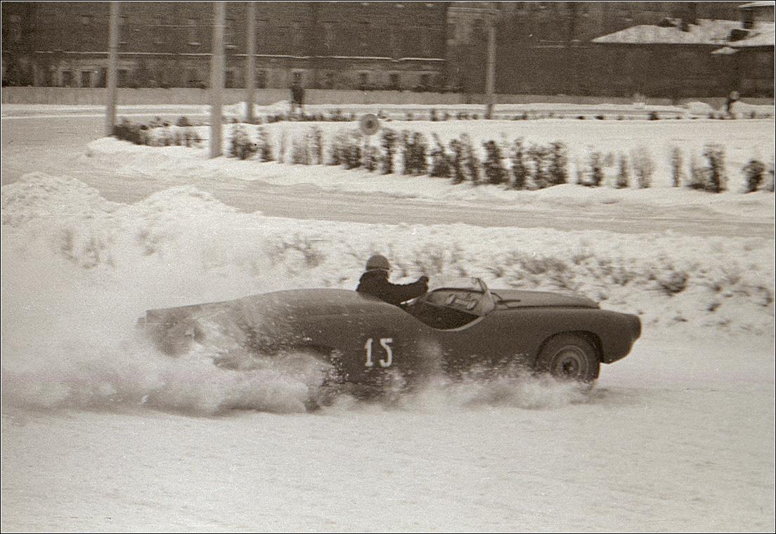 134. 1961. Ипподром. Зимние гонки.