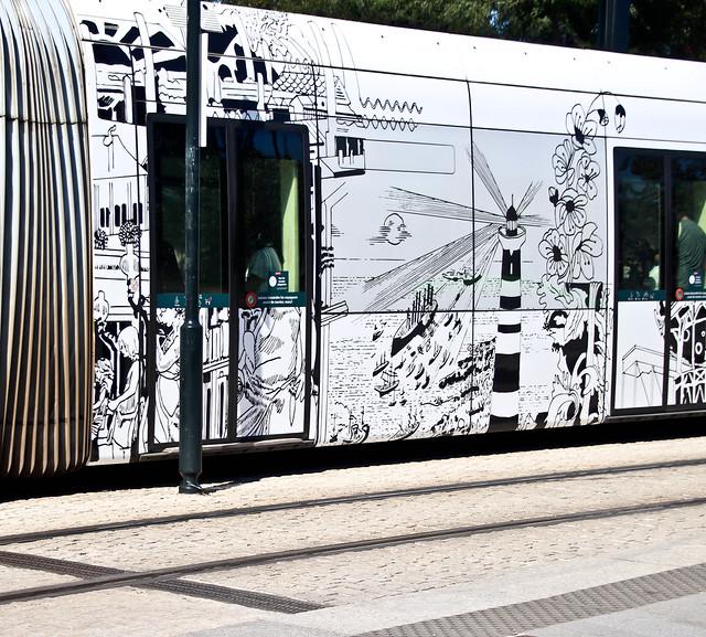 Tram décoré