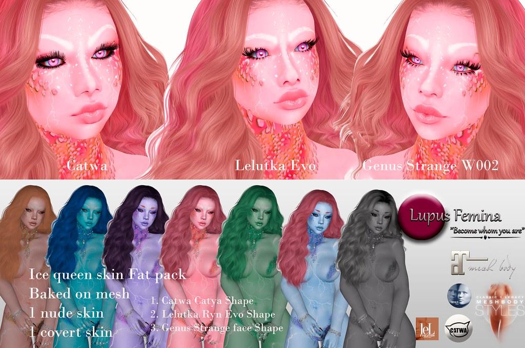 """Lupus Femina"" Ice Queen skin & shape – Fatpack"