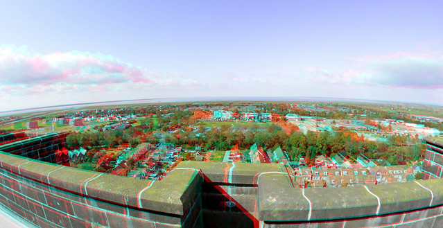 View from Dikke-Toren/St.Lievenmonstertoren Zierikzee 3D Fish-eye