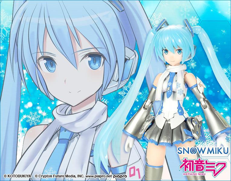 壽屋「FRAME MUSIC GIRL 雪未來」明年02月推出  如北海道冬季的銀白新色