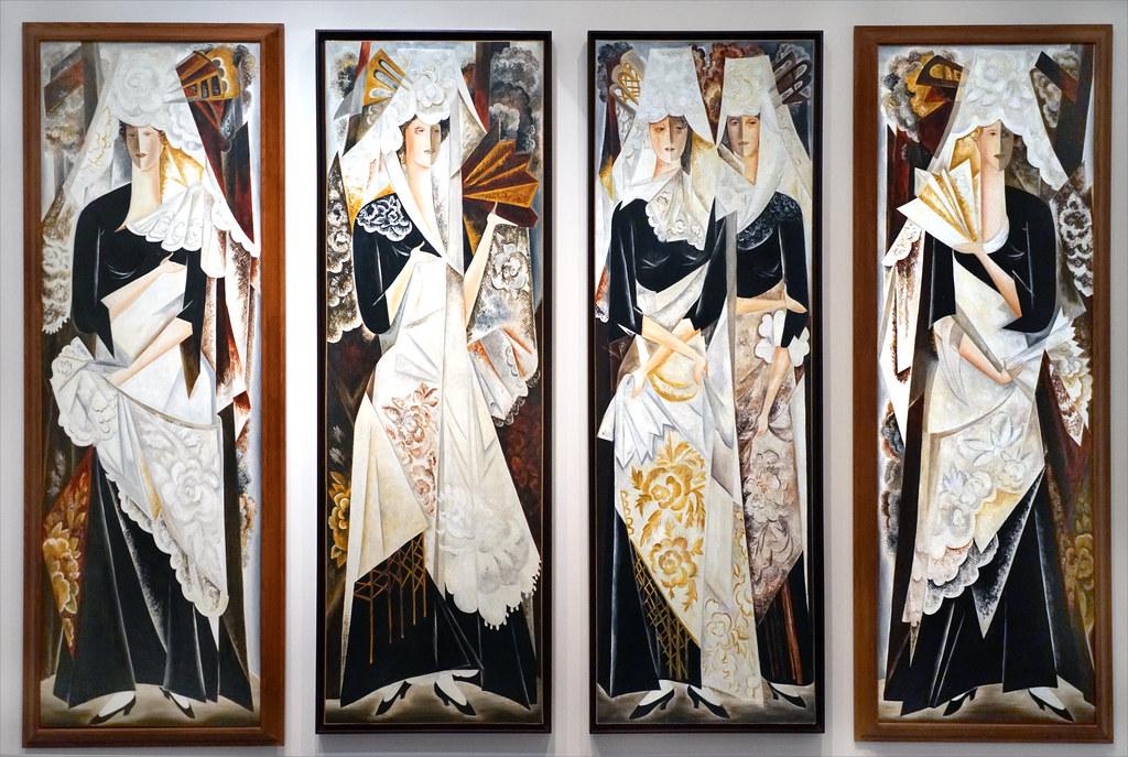 """""""Les Espagnoles"""" de N. Gontcharova (Centre Pompidou Metz)"""
