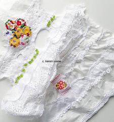 paper, lace and silk habotai