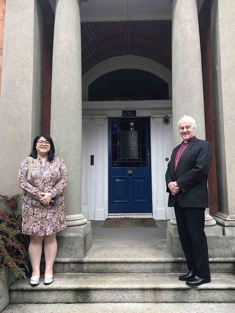 Lord Mayor Hazel Chu and Archbishop Michael Jackson.