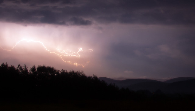 Lightning over the Northern fells