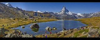 End of the summer in the Stellisee (Zermatt). Panorama.izakigur No. 62 63 65.08.09.20, 12:05:33. Canton of Valais, Switzerland. | by Izakigur