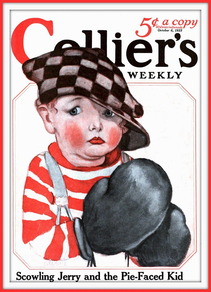 1923 October 6, - Cover- Collier's - Pie Faced Kid - Artist AGRAMONTE