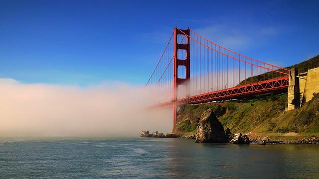 Morning mist, Golden Gate bridge