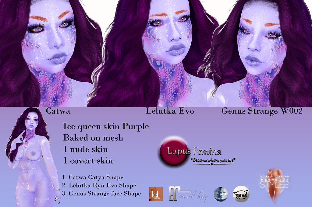 """Lupus Femina"" Ice Queen skin & shape Purple"