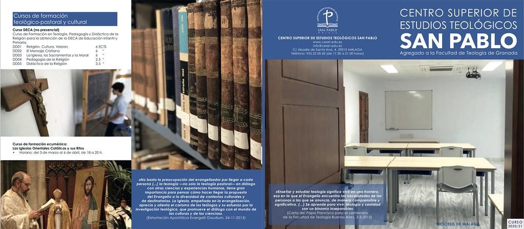 CENTRO SUPERIOR DE ESTUDIOS TEOLÓGICOS SAN PABLO (curso 2020-21)