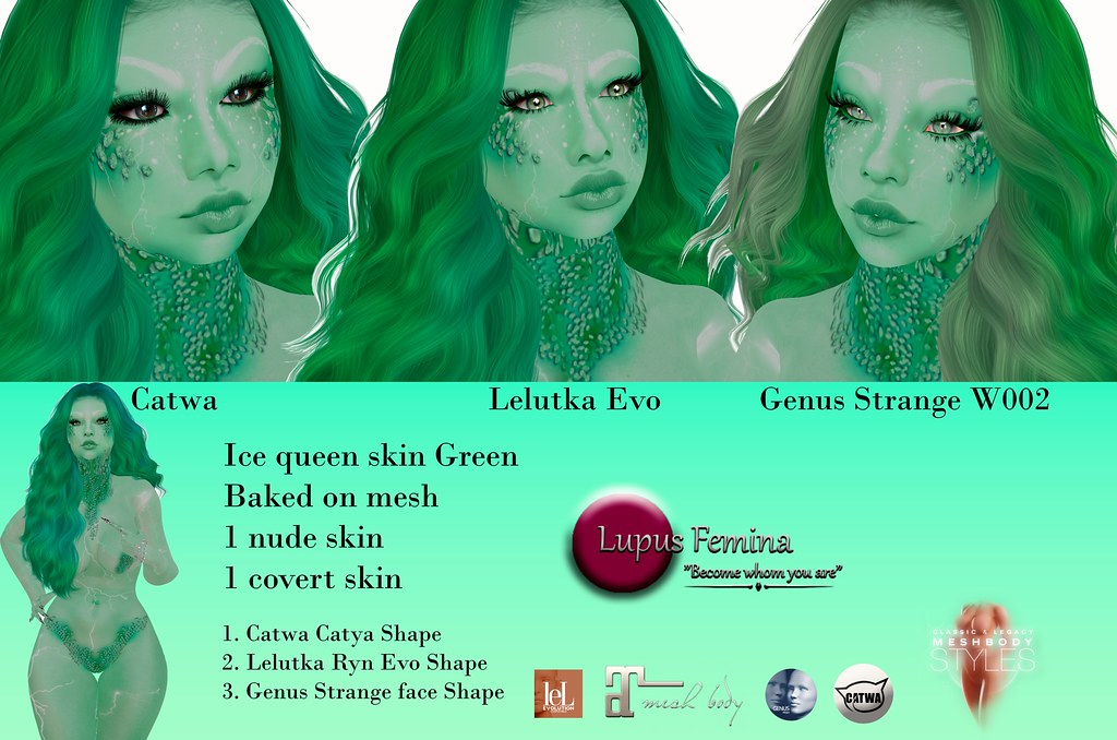 """Lupus Femina"" Ice Queen skin & shape Green"