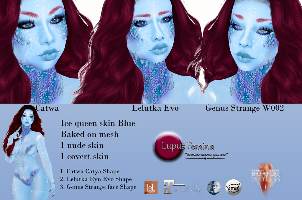 """Lupus Femina"" Ice Queen skin & shape Blue"