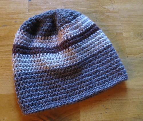 Scrappy Striped Helmet Hat