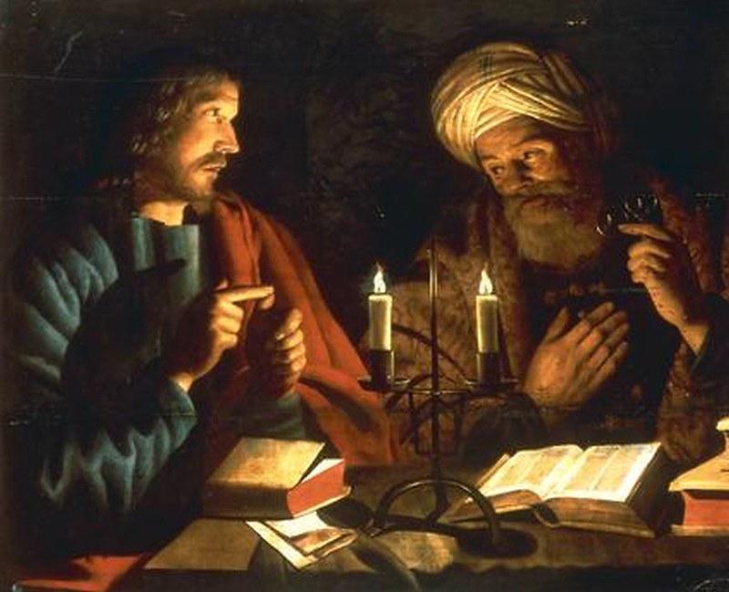 Nikodemus bij Christus