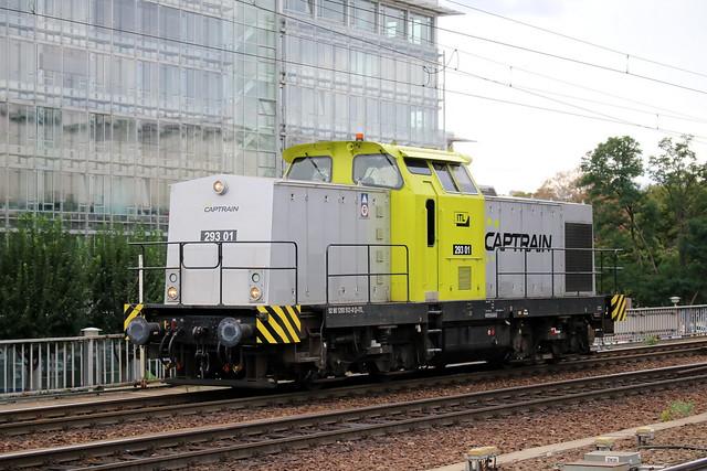Captrain: Diesellok 293 01 der ITL in Dresden Hbf